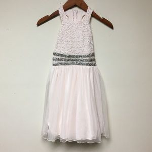Speechless Kids Pink Silver Shimmer Dress